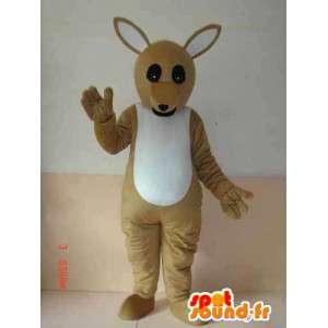 Australia Kangaroo mascotte - Modello di base - grigio espresso