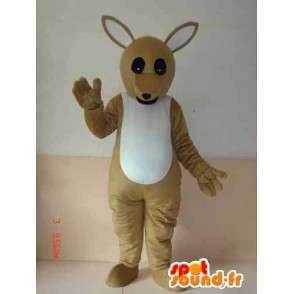 Australia Kangaroo mascotte - Modello di base - grigio espresso - MASFR00239 - Mascotte di canguro