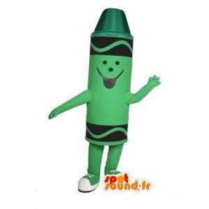 Mascotte de pastel vert - Costume de crayon de pastel vert