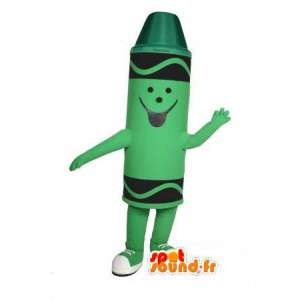 Pastel green mascot - Costume pencil pastel green - MASFR003014 - Mascots pencil