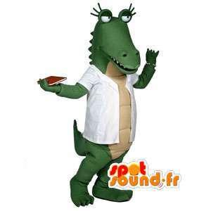 Groene krokodil mascotte - krokodilkostuum
