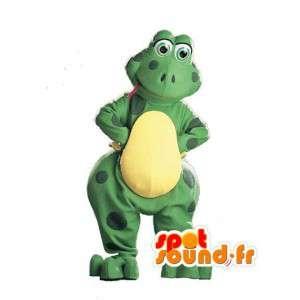 Vihreä ja keltainen sammakko maskotti - Sammakko Costume - MASFR003020 - sammakko Mascot