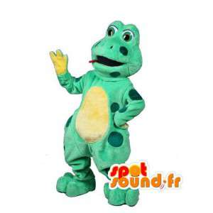 Mascot frog green and yellow - Frog Costume - MASFR003021 - Mascots frog