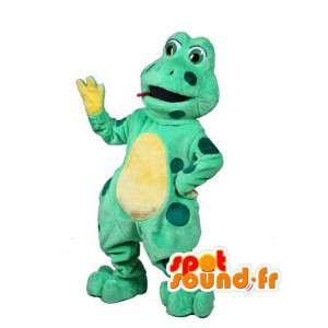Vihreä ja keltainen sammakko maskotti - Sammakko Costume - MASFR003021 - sammakko Mascot