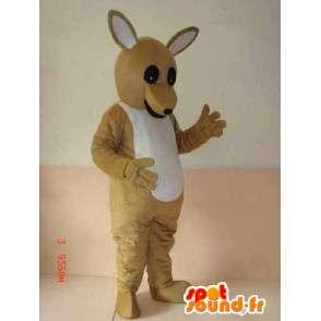 Μασκότ καγκουρό της Αυστραλίας - γκρι βασικό μοντέλο - Express - MASFR00239 - μασκότ καγκουρό