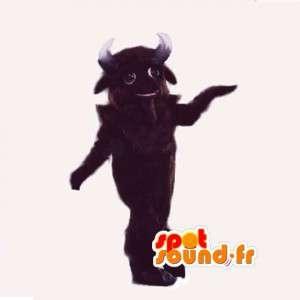 ぬいぐるみの茶色の水牛のマスコット-巨大な水牛の衣装-MASFR003026-雄牛のマスコット