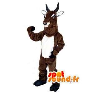 ヤギのマスコット茶色のピレネー - ヤギ変装
