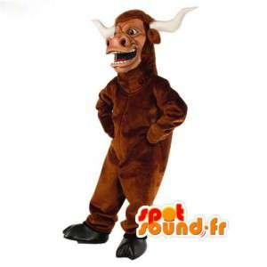 Luz toro marrón mascota - toro de vestuario - MASFR003040 - Mascota de toro