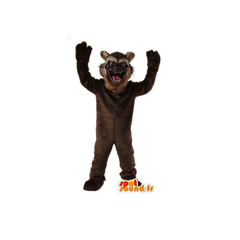 Mascot braunen Teddybären Braunbär Kostüm
