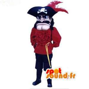 Capitão Pirata Mascote - traje do pirata - MASFR003073 - mascotes piratas