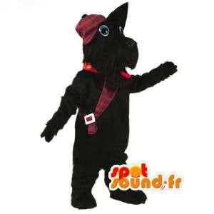Scottish-Terrier-Maskottchen schwarz - Kostüm Black Dog - MASFR003078 - Hund-Maskottchen