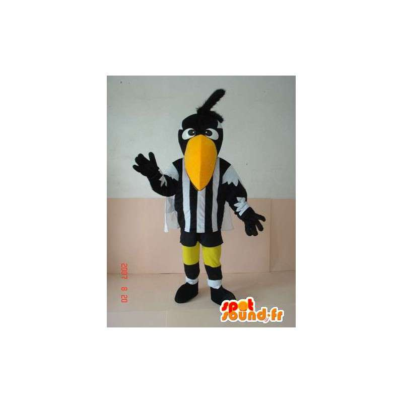 Pelican mascot black and white striped - Disguise Bird referee - MASFR00243 - Mascot of birds
