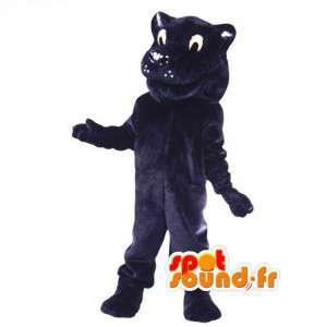 Black-Panther-Maskottchen-Cartoon-guy - Kostüm Panther - MASFR003085 - Tiger Maskottchen