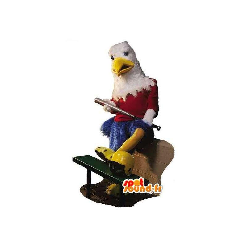 Mascot blå ørn, rød og hvit - den gigantiske fuglen drakt - MASFR003092 - Mascot fugler