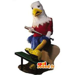 Eagle mascot blue, red and white - giant bird costume - MASFR003092 - Mascot of birds