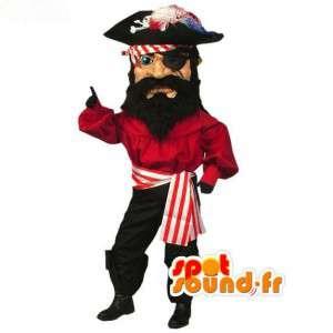 Capitão Pirata Mascote - traje do pirata - MASFR003093 - mascotes piratas