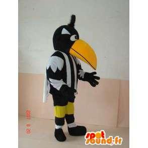 Mascotte Pelican rayé noir et blanc - Déguisement d'oiseau arbitre - MASFR00243 - Mascotte d'oiseaux