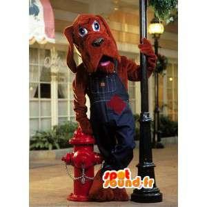Cane mascotte costume tuta marrone - cane marrone - MASFR003094 - Mascotte cane