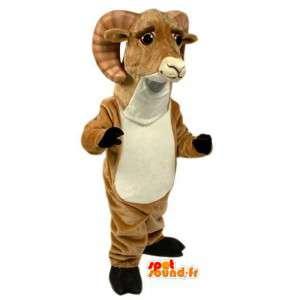 ピレネーヤギのマスコット-ブラウンラムコスチューム-MASFR003095-ヤギとヤギのマスコット