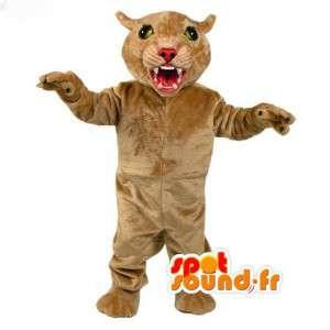 Panther-Maskottchen beige - beige Panther Disguise - MASFR003105 - Tiger Maskottchen