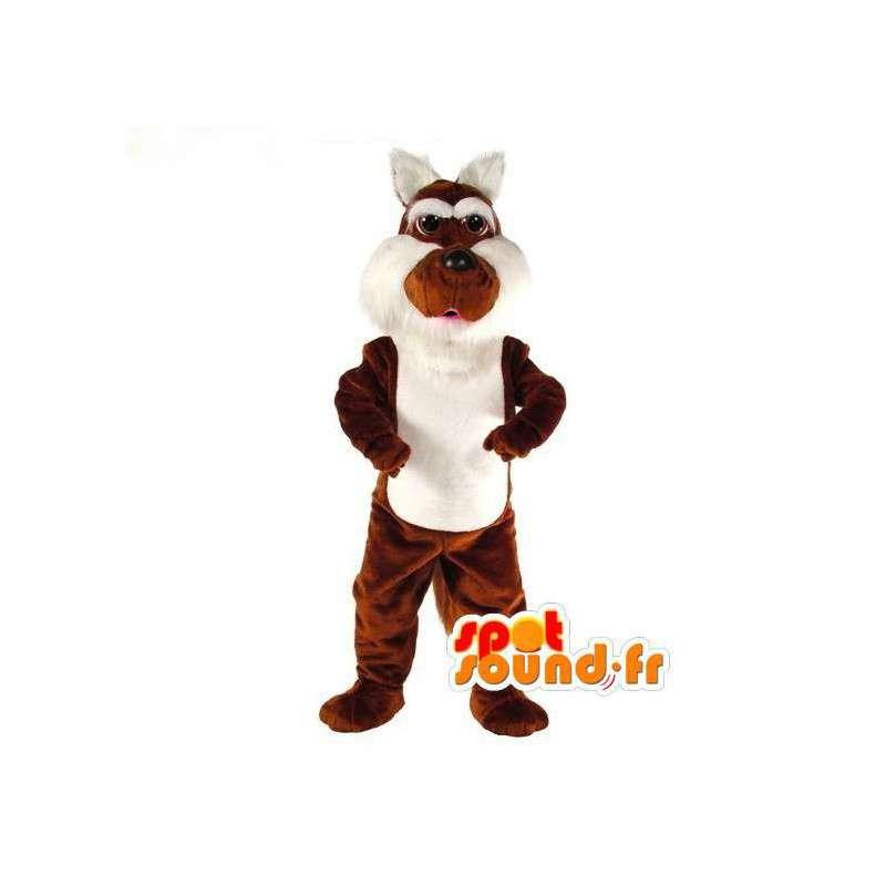 Mascot marrón y el conejo blanco - Disfraz de conejo de la felpa - MASFR003106 - Mascota de conejo