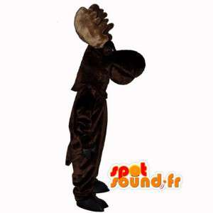 Mascot caribou dark brown - Reindeer Costume - MASFR003110 - Animals of the forest