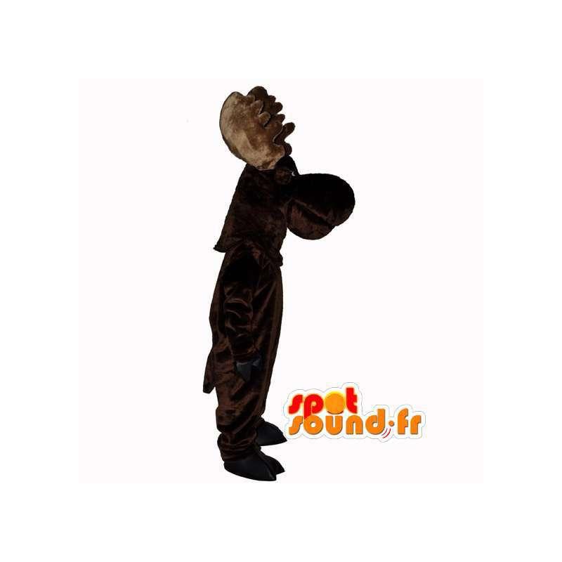 Mørk brun villrein maskot - Reindeer Suit - MASFR003110 - Forest Animals