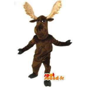 Marrom renas mascote - traje da rena