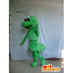 Classic green ant mascot - Costume insect for evening