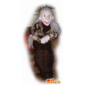 Gammel dame maskot - Ældre person kostume - Spotsound maskot