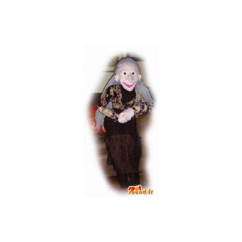 Gammal dammaskot - äldre persondräkt - Spotsound maskot