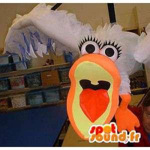 Maskotka gigant frajer - biała mewa kostium