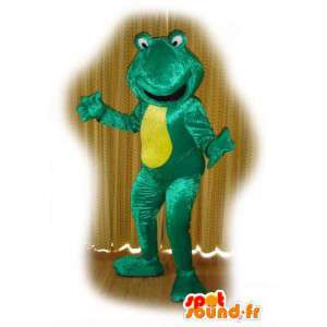 Mascot frog green and yellow - Frog Costume - MASFR003130 - Mascots frog