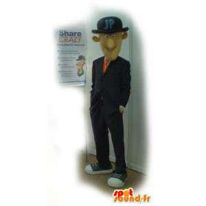 Homem Mascot tipo anglo-saxão do fumo - traje do homem