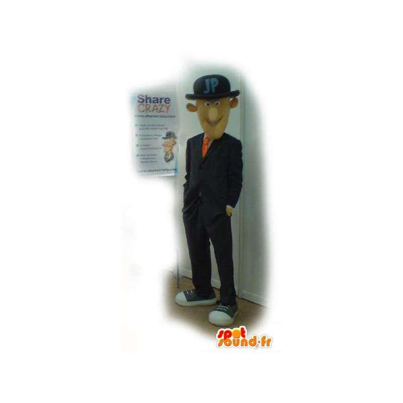 Mascot man in tuxedo Anglo-Saxon - Costume man - MASFR003131 - Human mascots