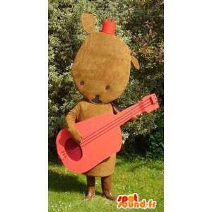 Mascot shaped plush brown - brown plush costume