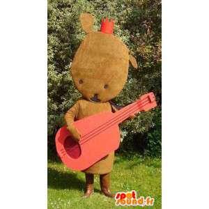 Mascot shaped plush brown - brown plush costume