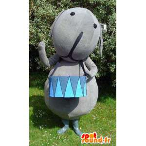 Maskotti jättiläinen harmaa muhkea - huopa Costume - MASFR003137 - Mascottes d'objets