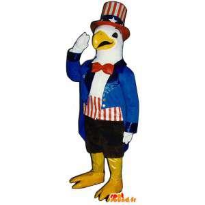 Maskotti pukeutunut perinteiseen asuun American Eagle - MASFR003143 - maskotti lintuja