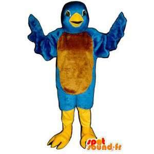 O pássaro azul da mascote Twitter - Twitter traje pássaro