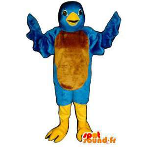 Twitter blue bird mascot - Costume of the bird Twitter