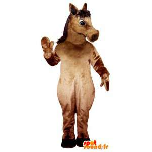 Dimensione Brown cavallo mascotte gigante - Costume cavallo
