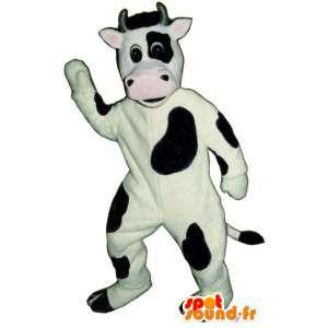 Mascotte de vache noire et blanche - Costume de vache