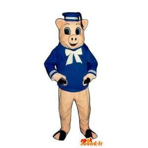 3匹の子豚の豚マスコット-豚コスチューム-MASFR003157-豚マスコット