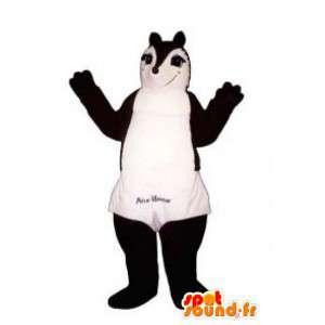 Scoiattolo mascotte marrone e bianco - Costume Squirrel - MASFR003159 - Scoiattolo mascotte