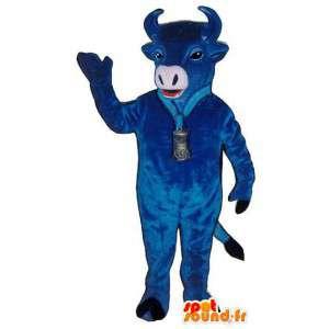 青い牛のマスコット-青い雄牛の衣装-MASFR003160-牛のマスコット