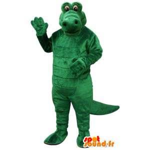 πράσινο βελούδο κροκοδείλια μασκότ - Crocodile Κοστούμια