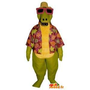 Vakantieganger krokodil mascotte - Krokodil overhemd
