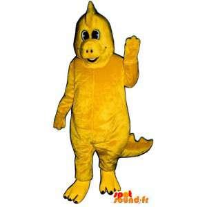 Dinosaur mascot yellow - yellow dinosaur costume - MASFR003170 - Mascots dinosaur