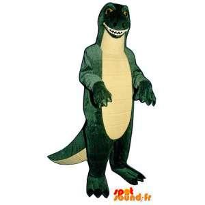 Godzilla Maskottchen grüne und gelbe Dinosaurier - Godzilla-Kostüm - MASFR003173 - Maskottchen-Dinosaurier